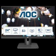 """AOC IPS monitor 23,8"""" - 24E1Q, 1920x1080, 16:9, 250 cd/m2, 5ms, VGA, HDMI, DP, hangszóró"""