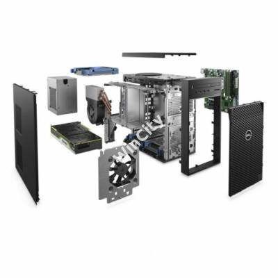 Dell Precision T3640 m.állomás W10ProMUI Ci7-10700 2.9GHz 8GB 256GB+1TB P2200