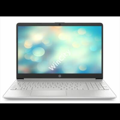 "HP 15s-fq1025nh, 15.6"" FHD AG, Core i3-1005G1, 4GB, 256GB SSD, Win 10, ezüst"