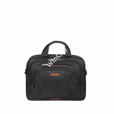 """AMERICAN TOURISTER Notebook táska 88531-1070, LAPTOP BAG 13.3""""-14.1"""" (BLACK/ORANGE) -AT WORK"""