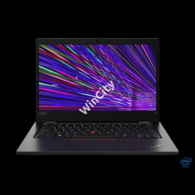 "LENOVO ThinkPad L13, 13,3"" FHD, Intel Core i7-10510U (4C, 4.90GHz), 16GB, 512GB SSD, No OS, fekete"