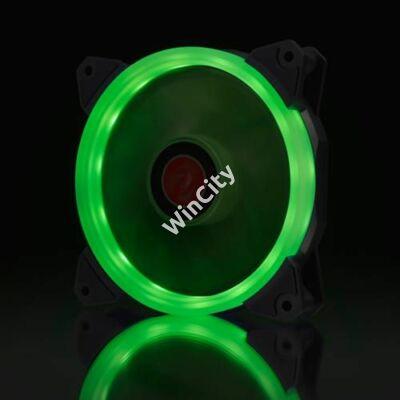 Ventilátor RAIJINTEK IRIS 12 PWM 12cm Zöld LED