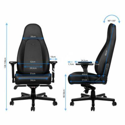 Gamer szék Noblechairs ICON Black Edition Hybrid Bőr