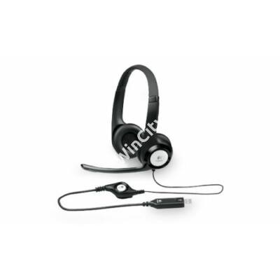Fejhallgató Logitech H390 Mikrofonnal Fekete USB