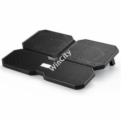 "DeepCool Notebook Hűtőpad 15,6""-ig - MULTI CORE X6 (24dB; max. 206,25 m3/h; 2x14cm, 2x10cm, 2xUSB2.0)"