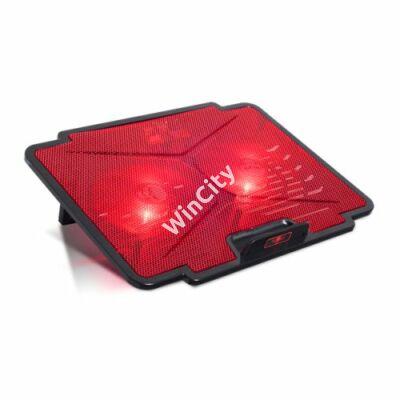 "Spirit of Gamer Notebook Hűtőpad 15,6""-ig - AIRBLADE 100 Red (25dB; max. 125,72 m3/h; 2x12cm, LED, 2xUSB2.0)"