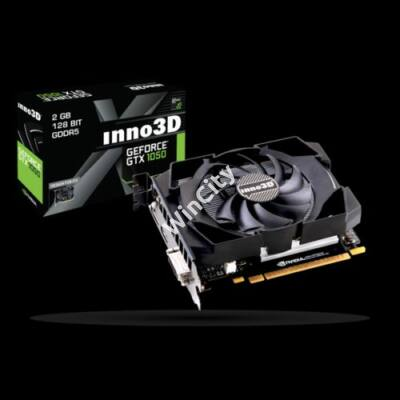 Inno3D Videókártya - nVidia GTX1050 Compact (2048MB, DDR5, 128bit, 1354/7000Mhz, DVI, DP, HDMI)
