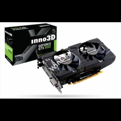 Inno3D Videókártya - nVidia GTX1050 Twin X2 (3072MB, DDR5, 96bit, 1354/7000Mhz, DVI, DP, HDMI)